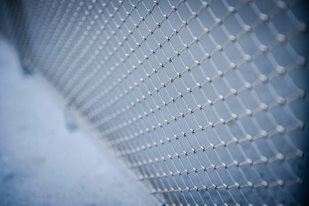 Edelstahlgeländer mit Stahlnetz